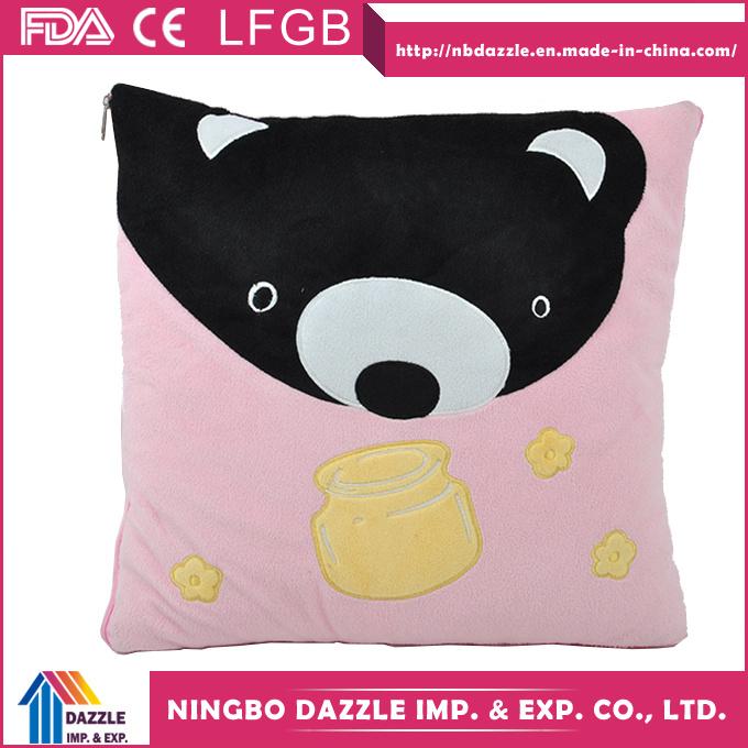 Wholesale Microvelvet Travel 2 in 1 Pillow Blanket