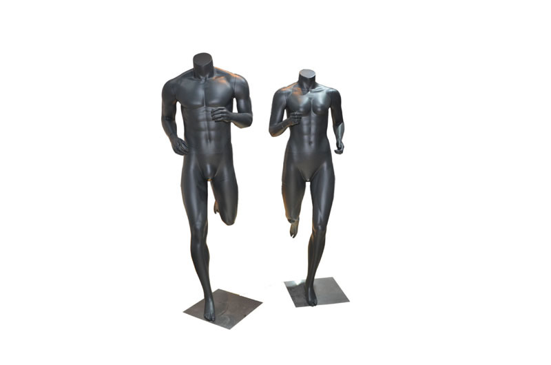 Window Display Custom Black Muscle Sport Female Mannequin