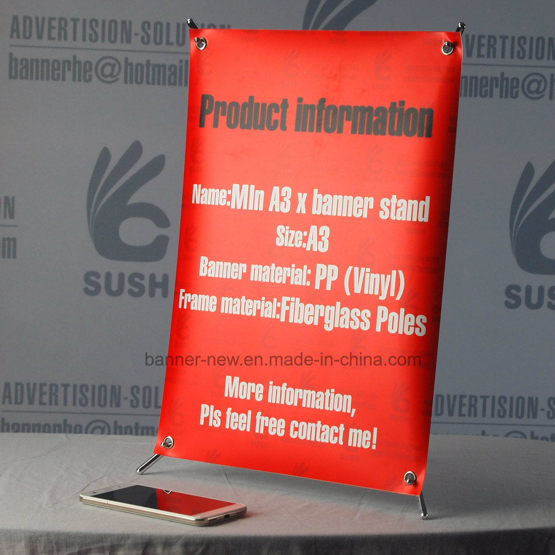 Min X Stand, X Banner Stand, X Stand (A3)