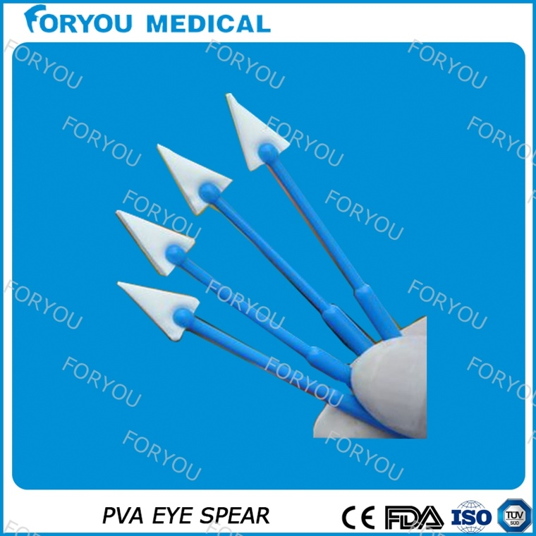 Single Use Eye PVA Spear Surgical Eye Drapes Medical Supply