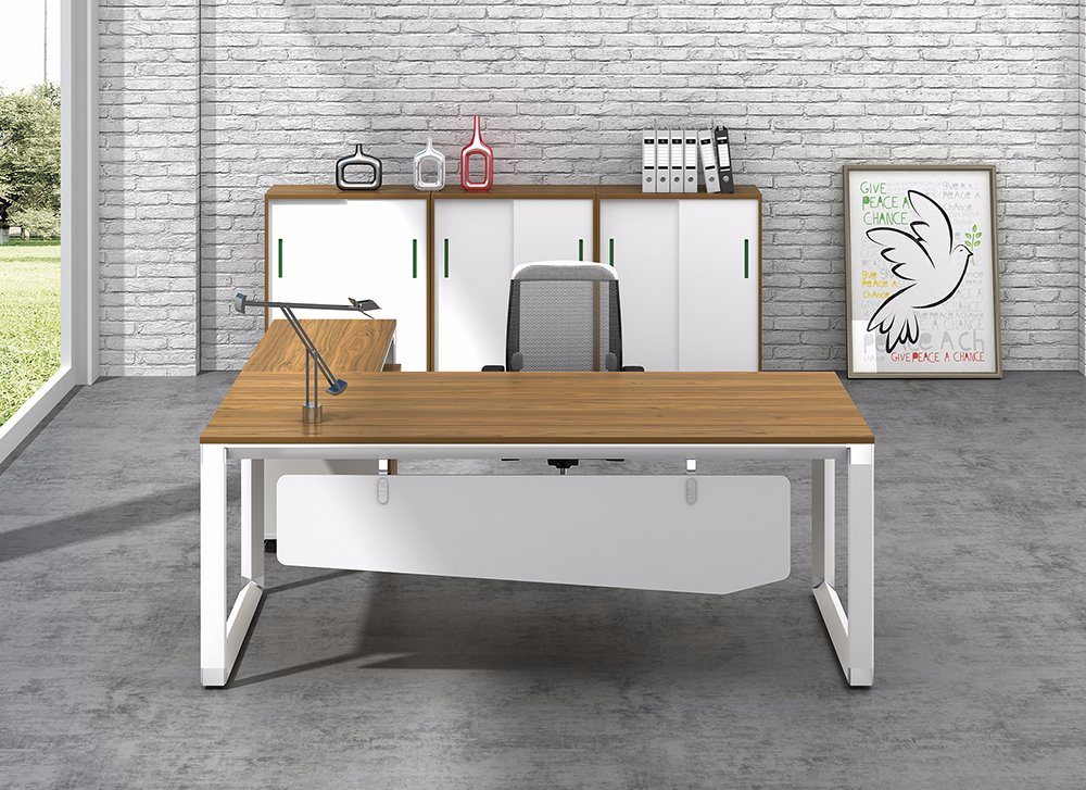 White Customized Metal Steel Office Executive Desk Frame with Ht71-2