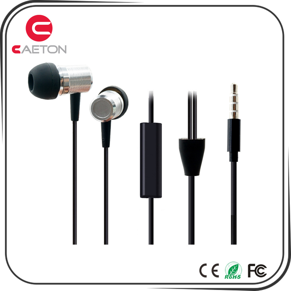 Factory Wholesale Stereo Metal Earphones
