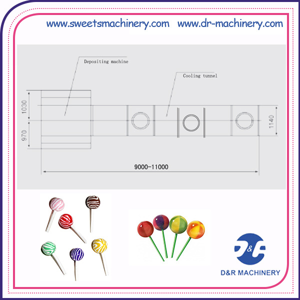Lollipop Production Line Lollipop Candy Making Machine