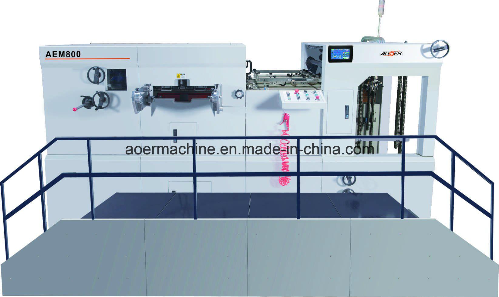AEM-800 Automatic Die Cutting Machine Corrugated Paper
