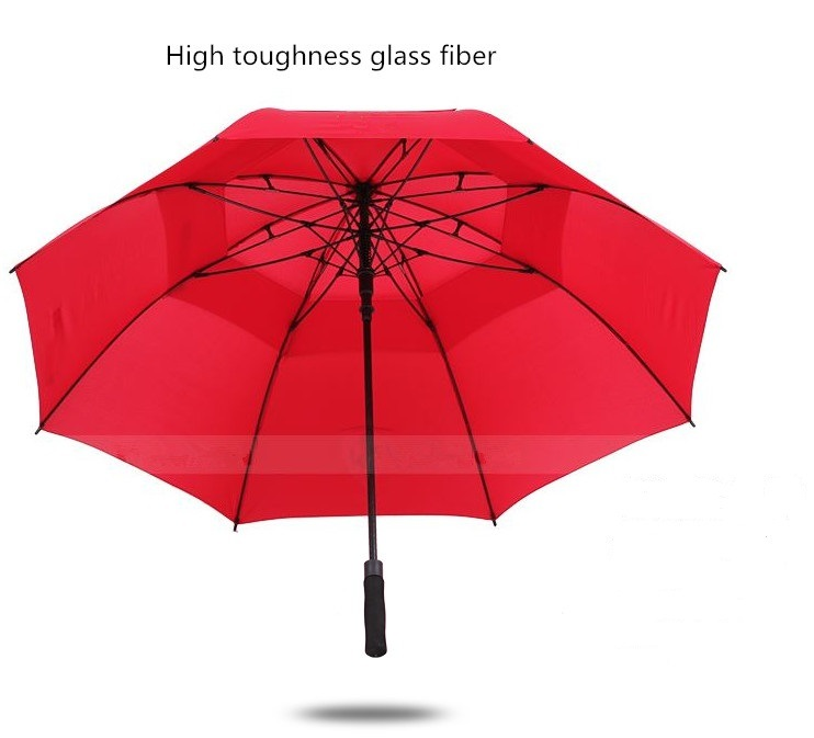 Semi Automatic Full Fiber Double Layer Umbrella