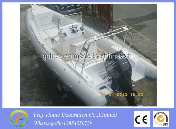 6.8m Ce Fibreglass Rib Sport Boat, Fishing Boat