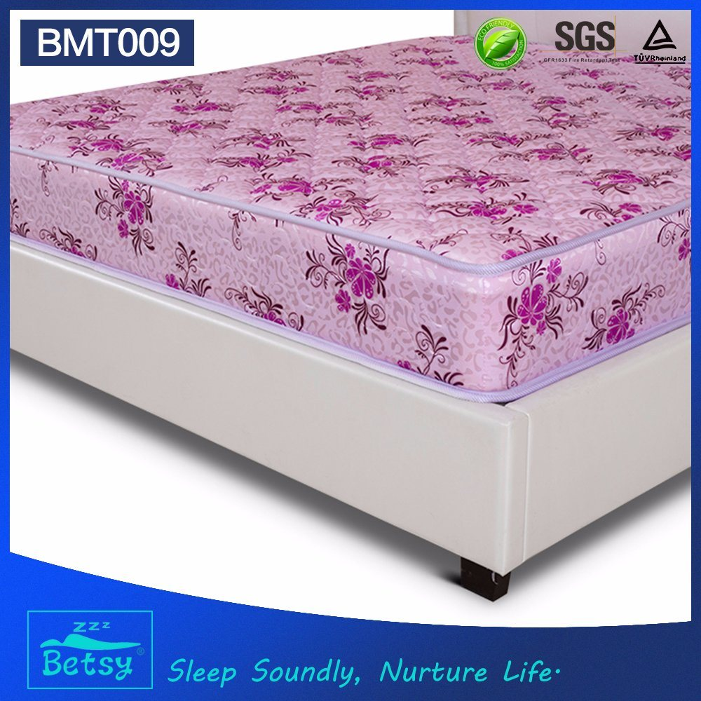 OEM Compressed Super Single Mattress 21cm High with Resilient Bonnell Spring and Polyester Printing Fabric