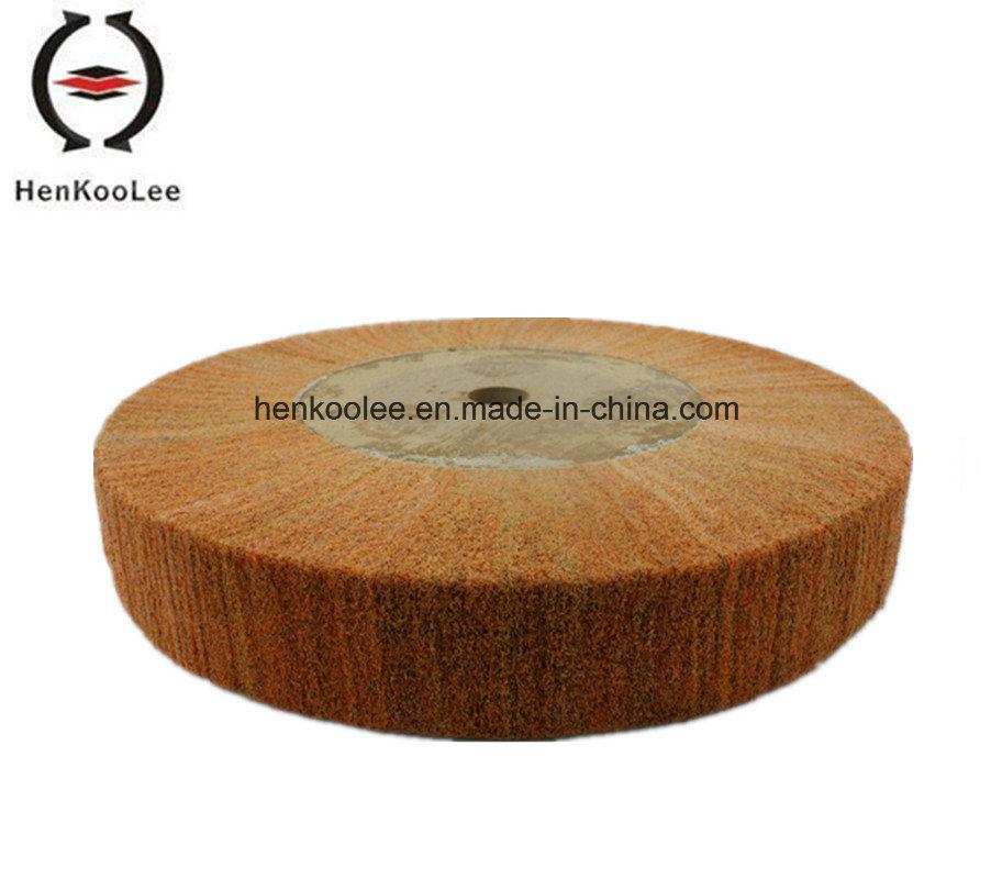 Non Woven Polishing Flap Wheel (Brown Colour)