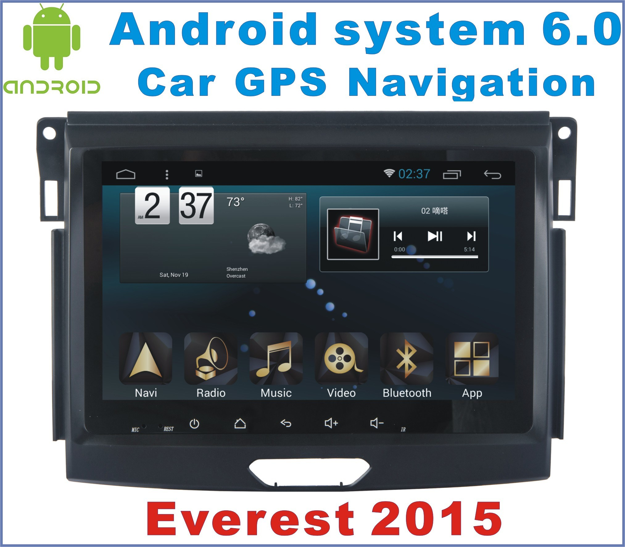 Android System 6.0 Car GPS for Ford Everest 2015 with Car Navigation