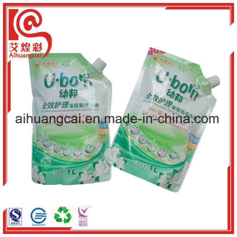 Special Shape Plastic Stand up Washing Liquid Suction Food Bag
