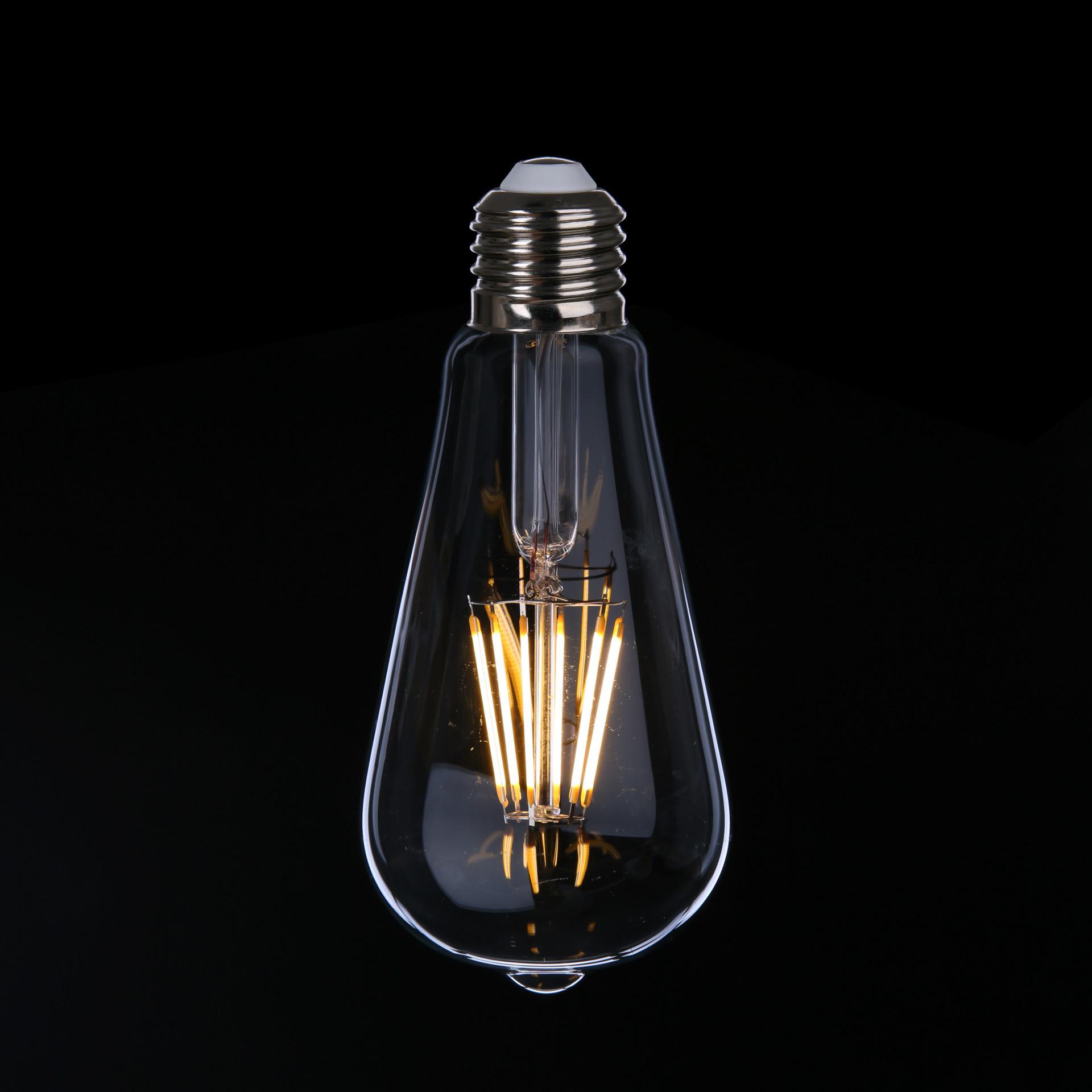 Energy Saving Light St64 E27 6W LED Filament Bulb