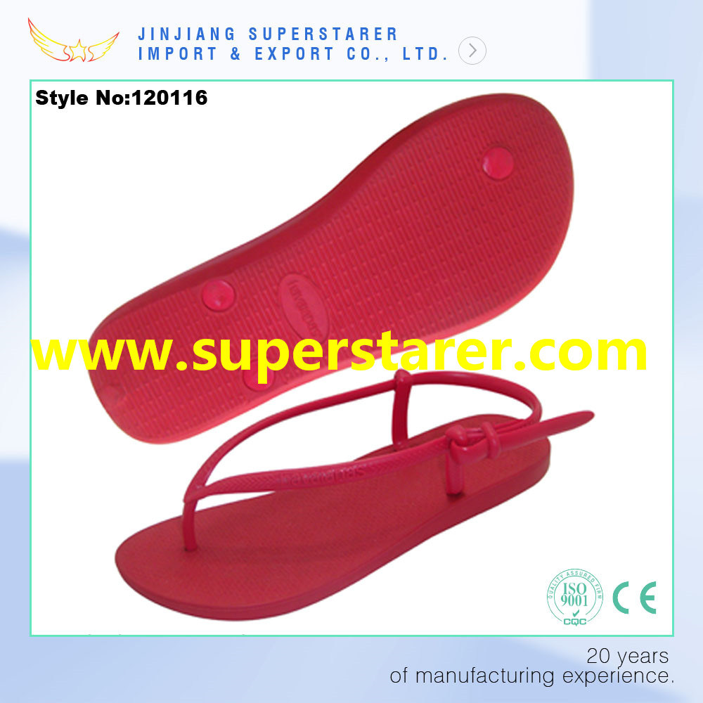 New Arrival Durable and Anti-Slip PE Flip Flops Women Shoes