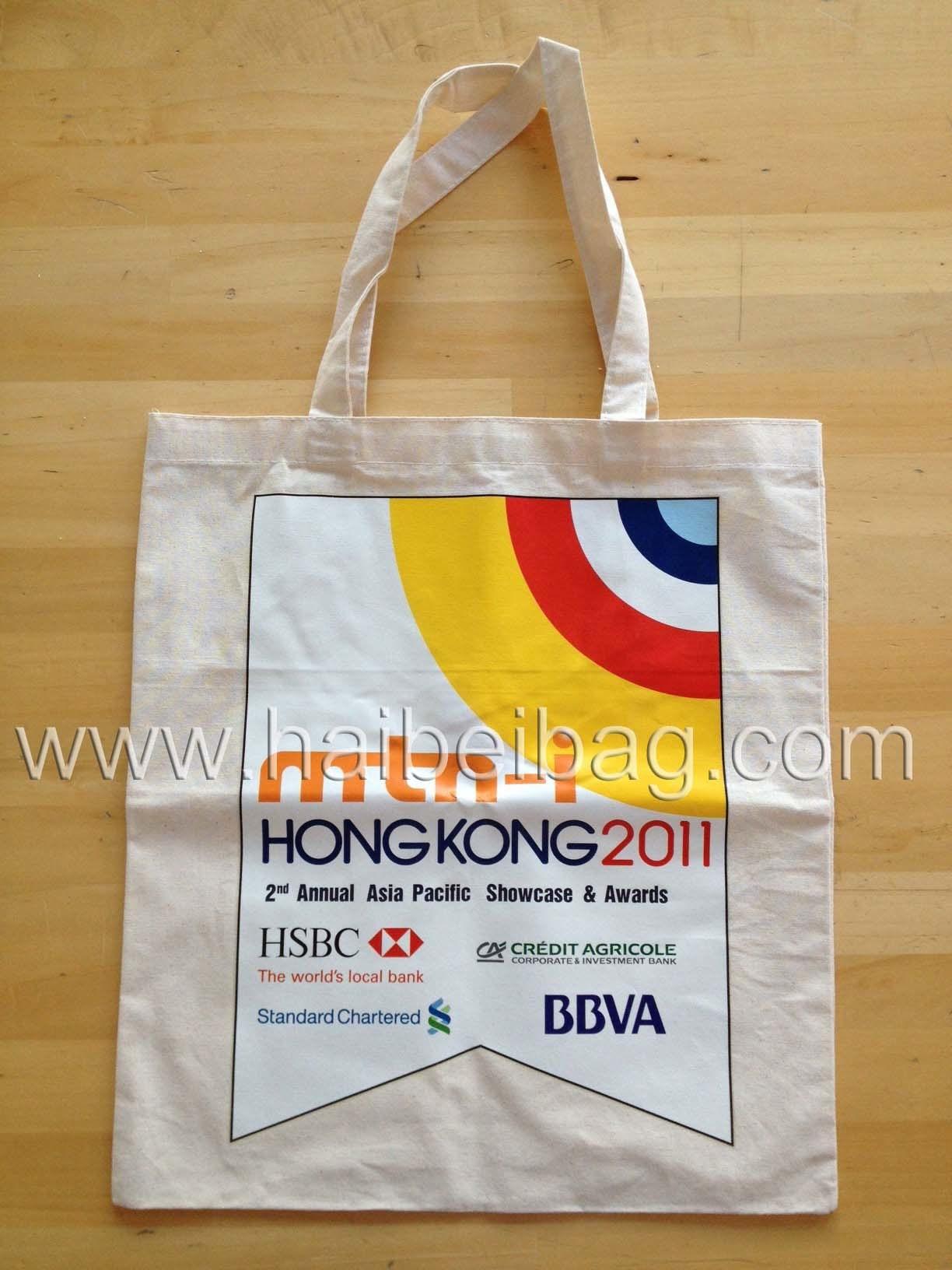 Eco-Friendly Shop Cotton Canvas Bag, Shopping Promotional Tote Bag, Organic Shopper Bag (HBCO-47)
