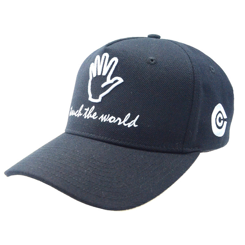 Wholesale Black/Gray 5 Panels Cotton Baseball Cap