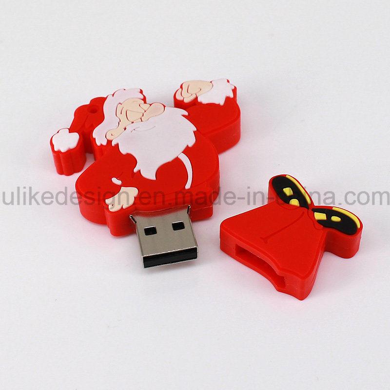 Christmas Promotion Gift USB Flash Drive (UL-PVC028)