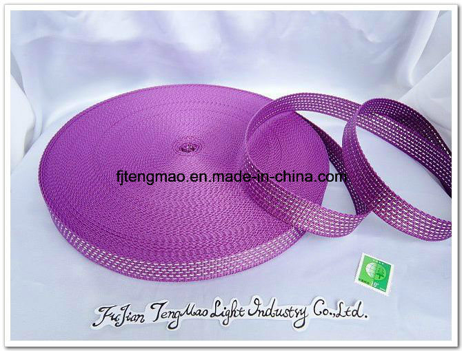 600d Purple with Silver PP Webbing for Shool Bags