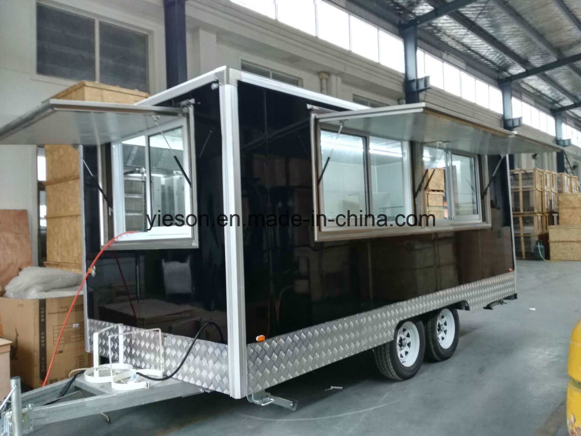 Sliding Glass Windows Mobile Kebab Van