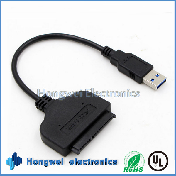 High Speed 7+15 Pin USB3.0 to SATA Converter USB Cable