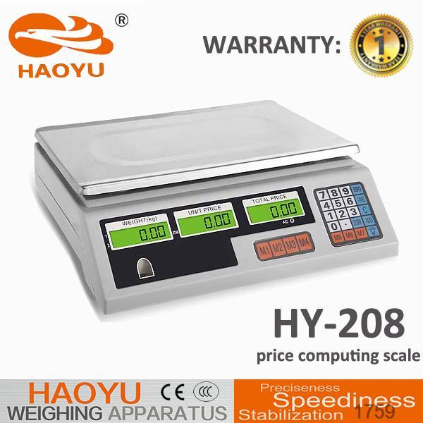 New Model-White Base Electronic Price Scale (HY-208)