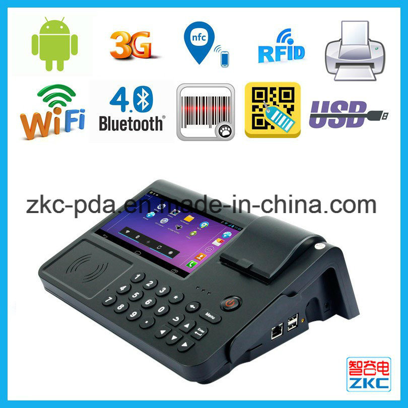 Retail Store Barcode Scanner Built-in-Printer Mobile Terminal