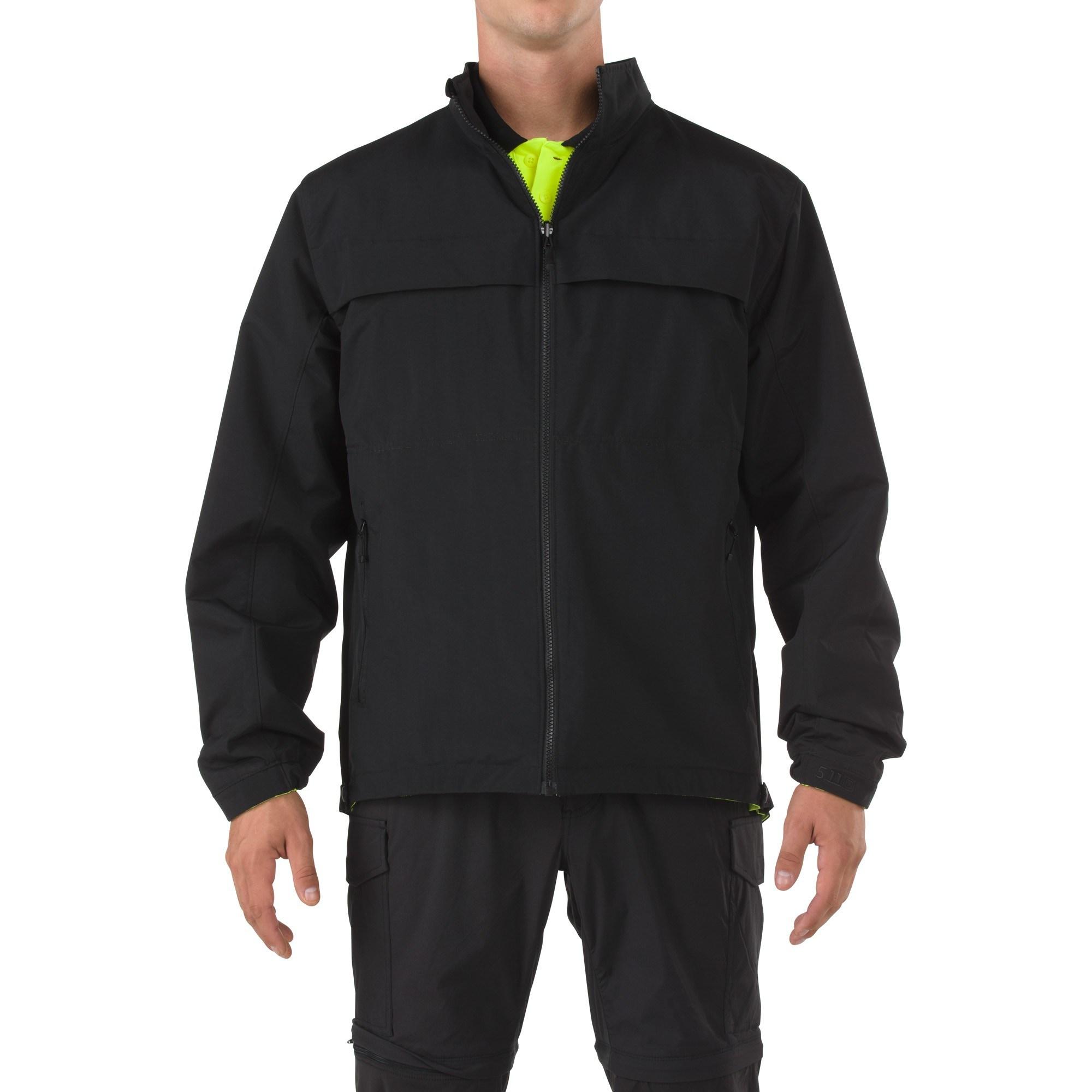 Black Cotton Men Winter Jacket Uniform