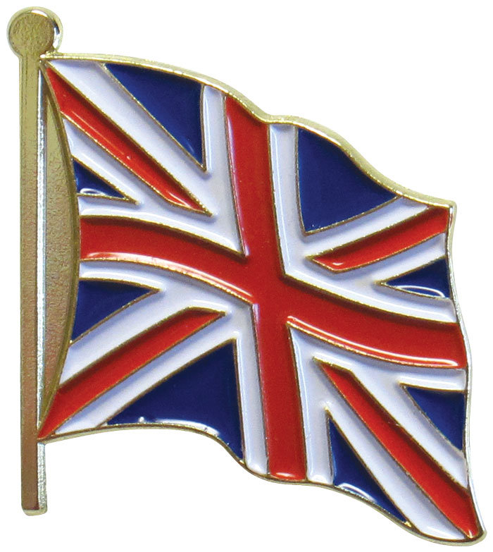 Casting Zinc Alloy Enamel Badge Custom UK Flag Lapel Pin