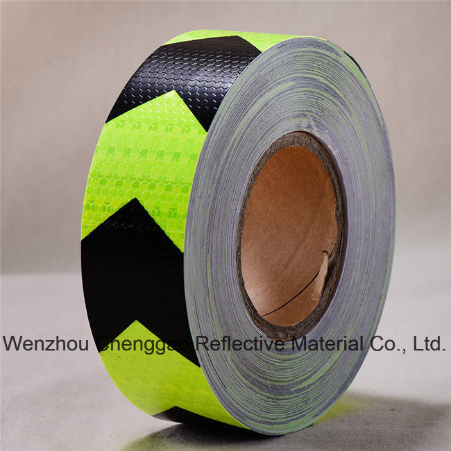 PVC Honeycomb Arrow Design Reflective Sticker Rolls 5cm (CG3500-AW)