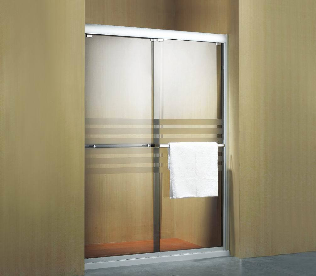 China hanging double sliding door d1n02 china shower for Sliding double doors