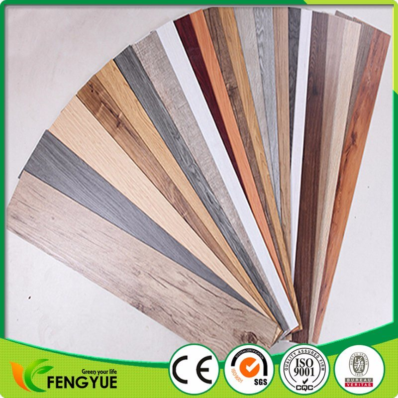 Colors Surface Treatment Wooden Vinyl Floor Tiles