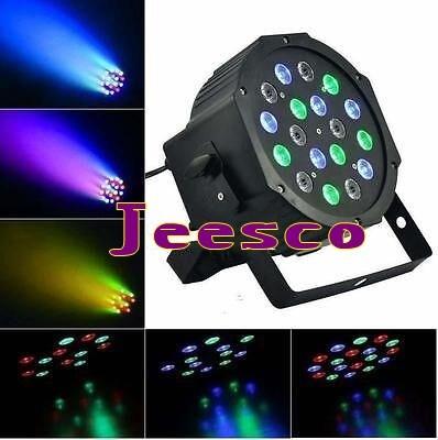 18PCS 1W RGB LED Flat PAR Light for Party Stage Disco