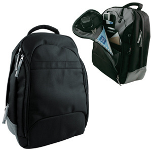 Polyester Multiple Computer Laptop Backpack Bag (MS6018)