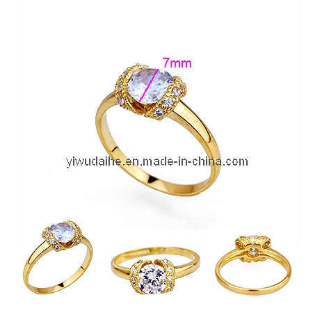 china new style gold plated with zircon ring 190517