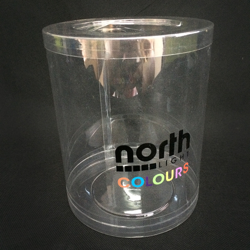 OEM cylinder plastic packaging box (transparent clear tube)