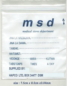Medicinal Bag, Zip Lock Bag, Drug Envelope
