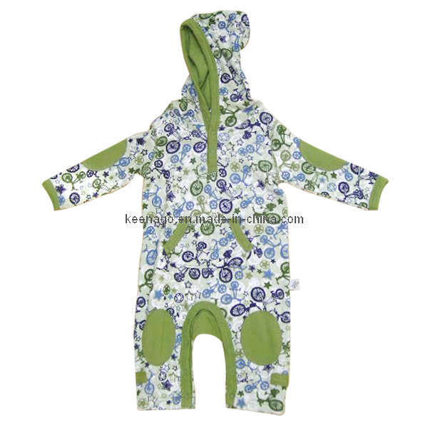 Baby Coverall With Hood