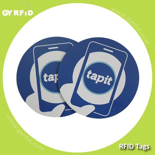RFID PVC Lf Em4100 Em4102 Em4200 Disc Tag, RFID Hf Nfc S50 S70 Ultralight Ntag203 Topaz Disk Coin Sticker Tag