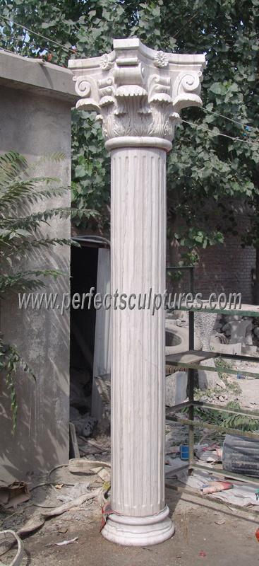 Roman Column with Stone Marble Granite Sandstone (QCM118)