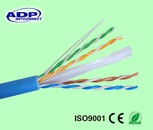 23AWG/4p UTP CAT6 LAN Cable Bare Copper Fluke Passed100m