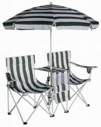 China Kids Double Beach Chair With Umbrella China