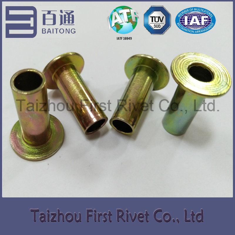 8X22mm Zinc Plated Flat Head Full Tubular Steel Rivet
