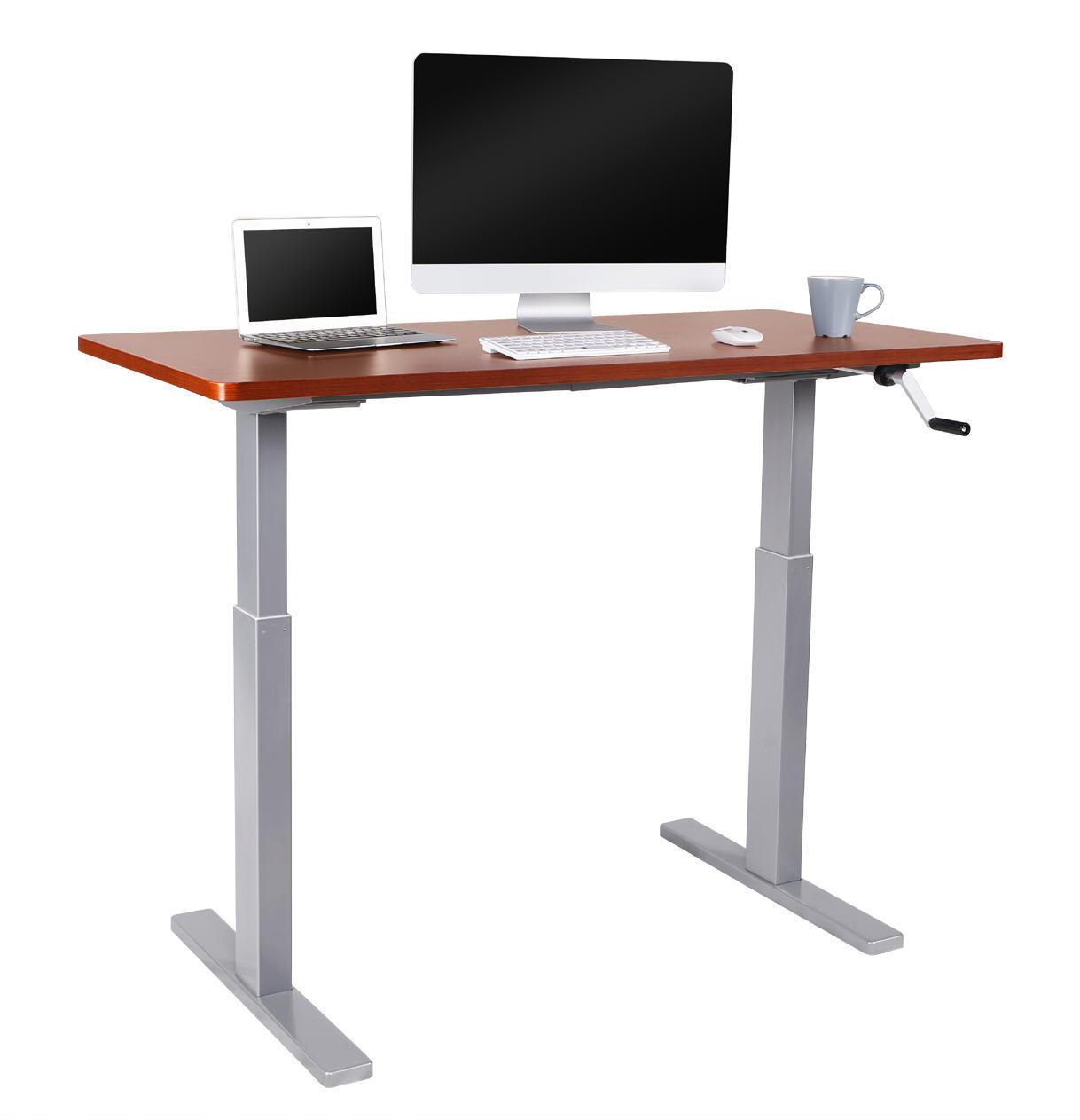 Crank Handle Manual Height Adjustable Lift Standing Desk