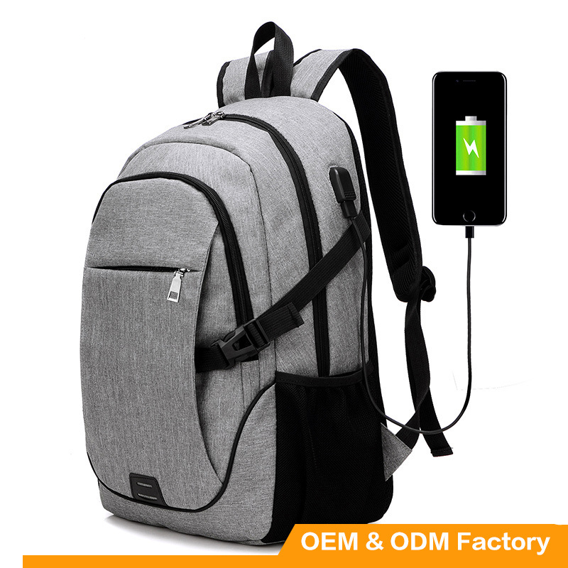 2017 New Arrival High Quality Waterproof USB Backpack Laptop Backpack with USB Cable