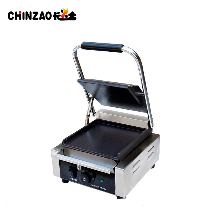 Single Head Commercial Panini Sandwich Grills with Ce