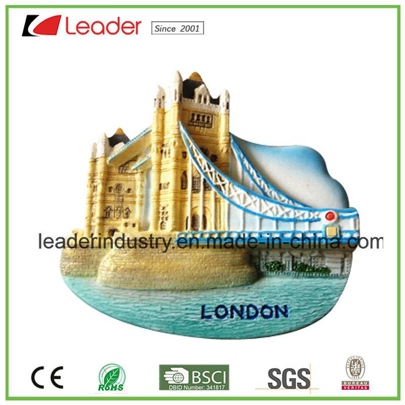 Polyresin Souvenir London Building 3D Refrigerator Magnet for Home Decoration