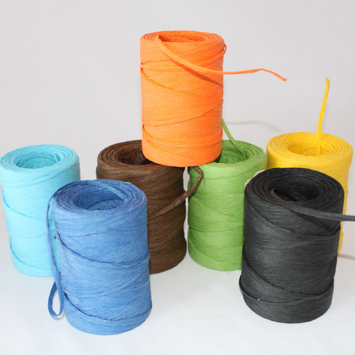 Colorful Paper Raffia Ribbon Roll