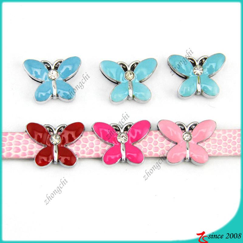 Enamel 8mm Butterfly Slide Charms Wholesale (SC15040956)