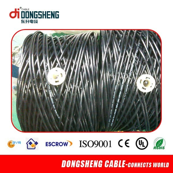 Rg59 Siamese Cable CCTV 95% Braided for Security Camera