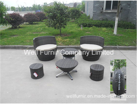 Stacktable Patio Set/Rattan Chair/Wicker End Table/Rattan Garden Furniture