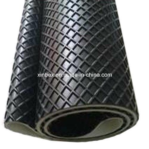 PVC Big Quadrel Pattern Black Conveyor Belt for Wood Process