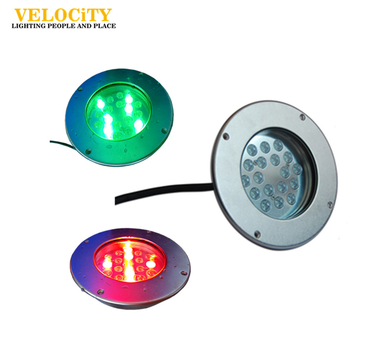 Wall Mounted Stainless Steel 316 RGB Color Changing LED Underwater Light RoHS Approved